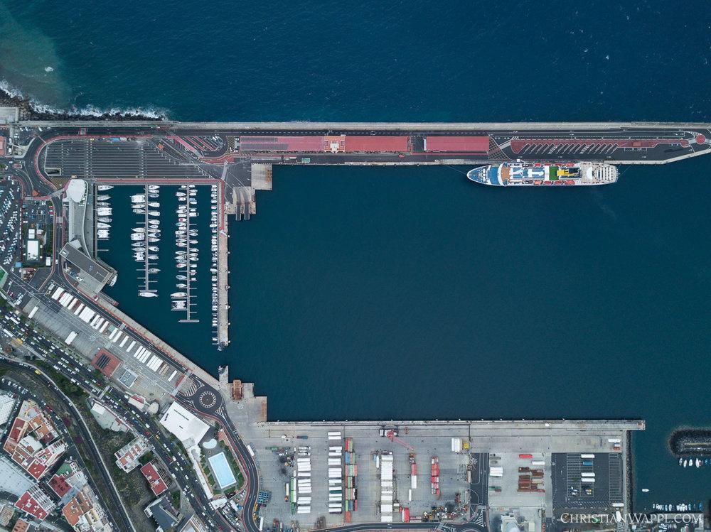 Aerial view of Marina La Palma