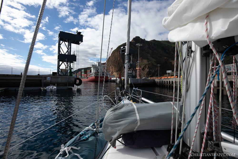 Leaving Marina La Palma