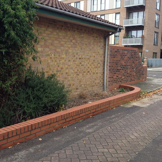 A small wall to stop ball games against a habitable space. What about walls just for ball games? #bluehackney2026