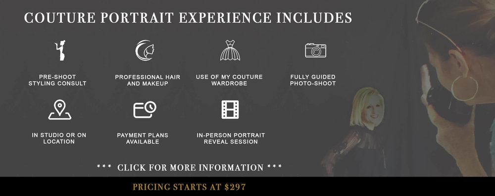 Elizabeth Ashford Photo Experience Includes the following services