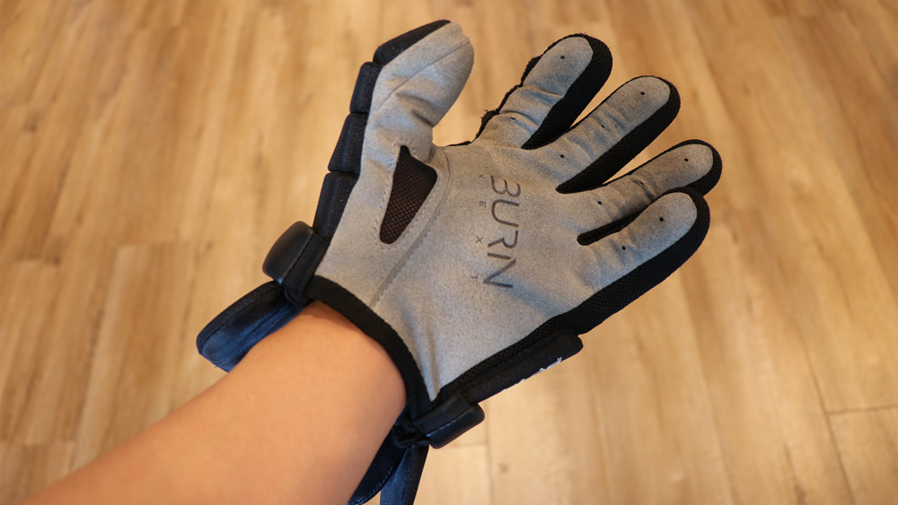 A lacrosse glove but with no inner wrist protection.