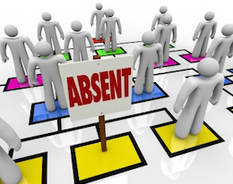 What causes staff absence?