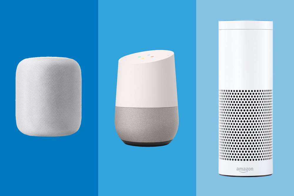 HomePod, Google Home and Echo
