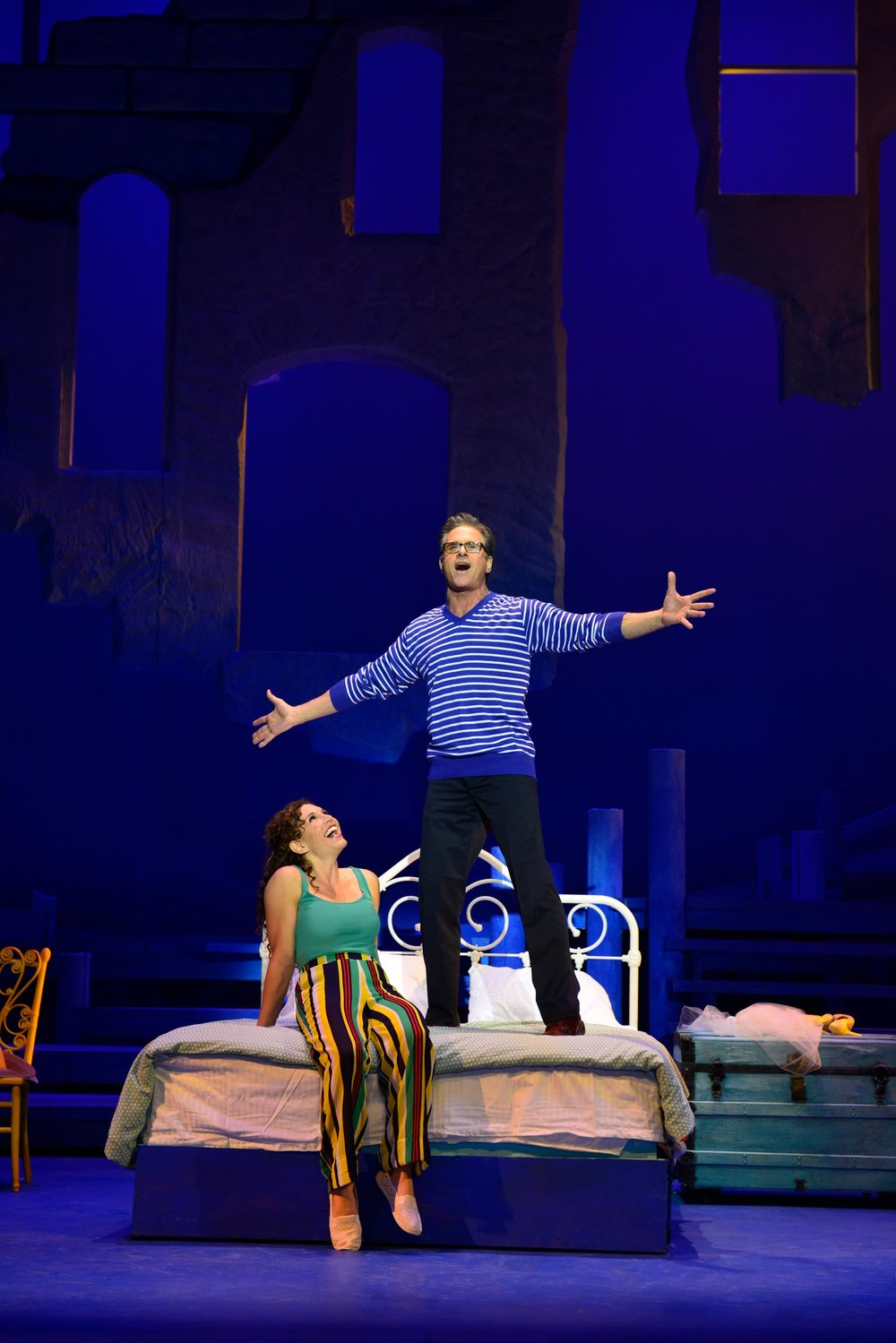 Jodie Langel and David Engel in Mamma Mia! at the Ogunquit Playhouse - Photo by Gary Ng