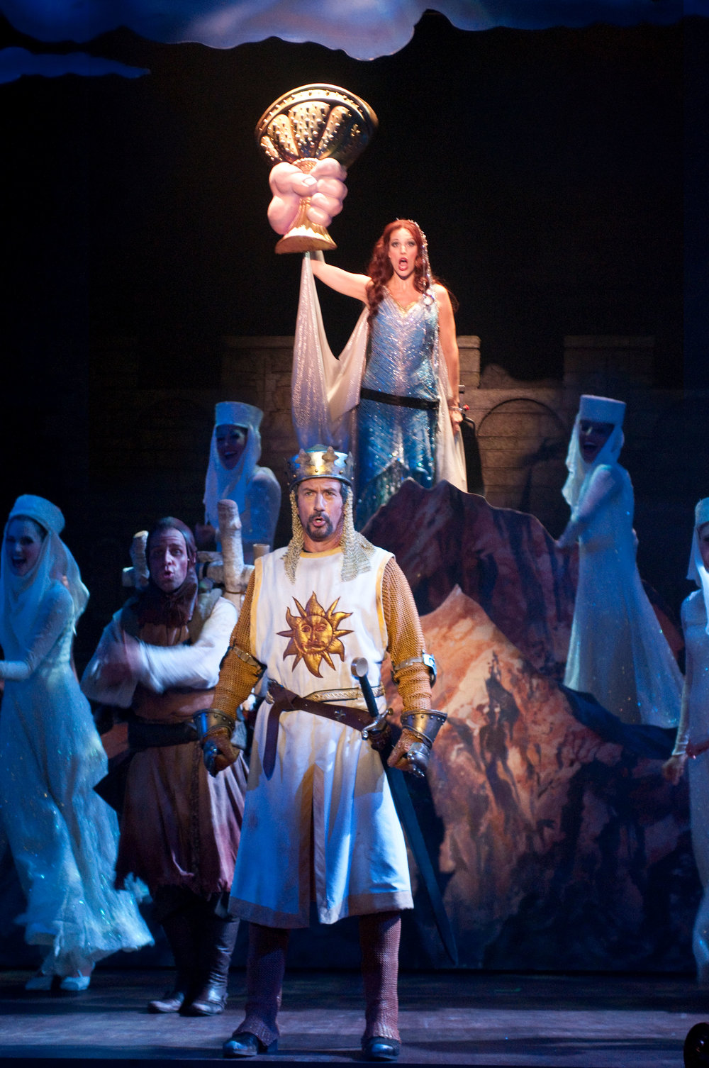 2010_OP_Monty-Python's-Spamalot_Charles-Shaughnessy_as_King-Arthur_Rachel-York_as_Lady-of-the-Lake_RGB.jpg