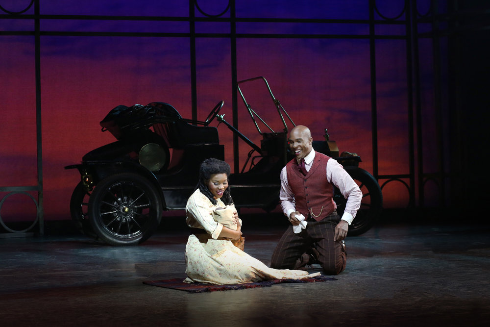 Lindsay Roberts & Darnell Abrahami in Ragtime at the Ogunquit Playhouse, 2017 - photo by Julia Russell