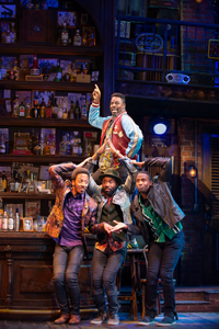 Kyle Taylor Parker, Dwayne Cooper, John Edwards, and Jelani Remy  Photo by Gary Ng  Smokey Joe's Cafe 5906.jpg