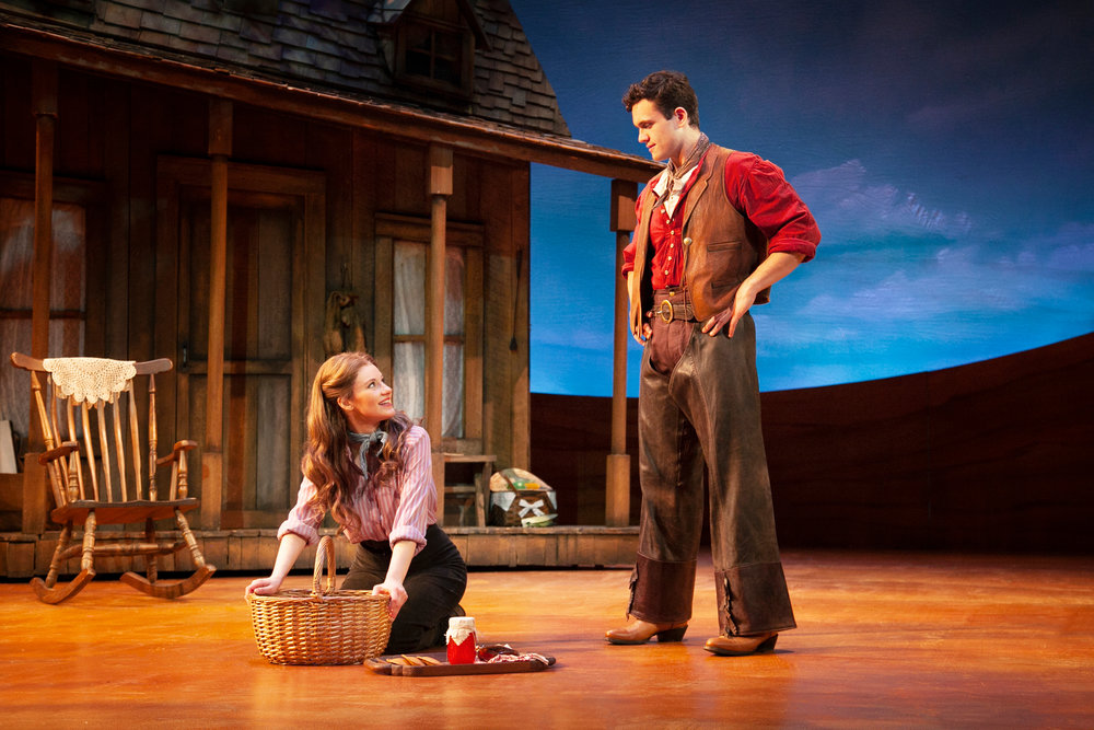 Taylor Quick and Stephen Mark Lukas in the 2018 production of  Oklahoma!  - Photo by Gary Ng