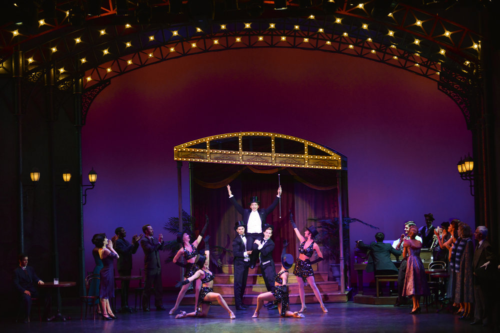 Stephen Brower and cast in the 2018 production of An American in Paris. Photo by Gary Ng.