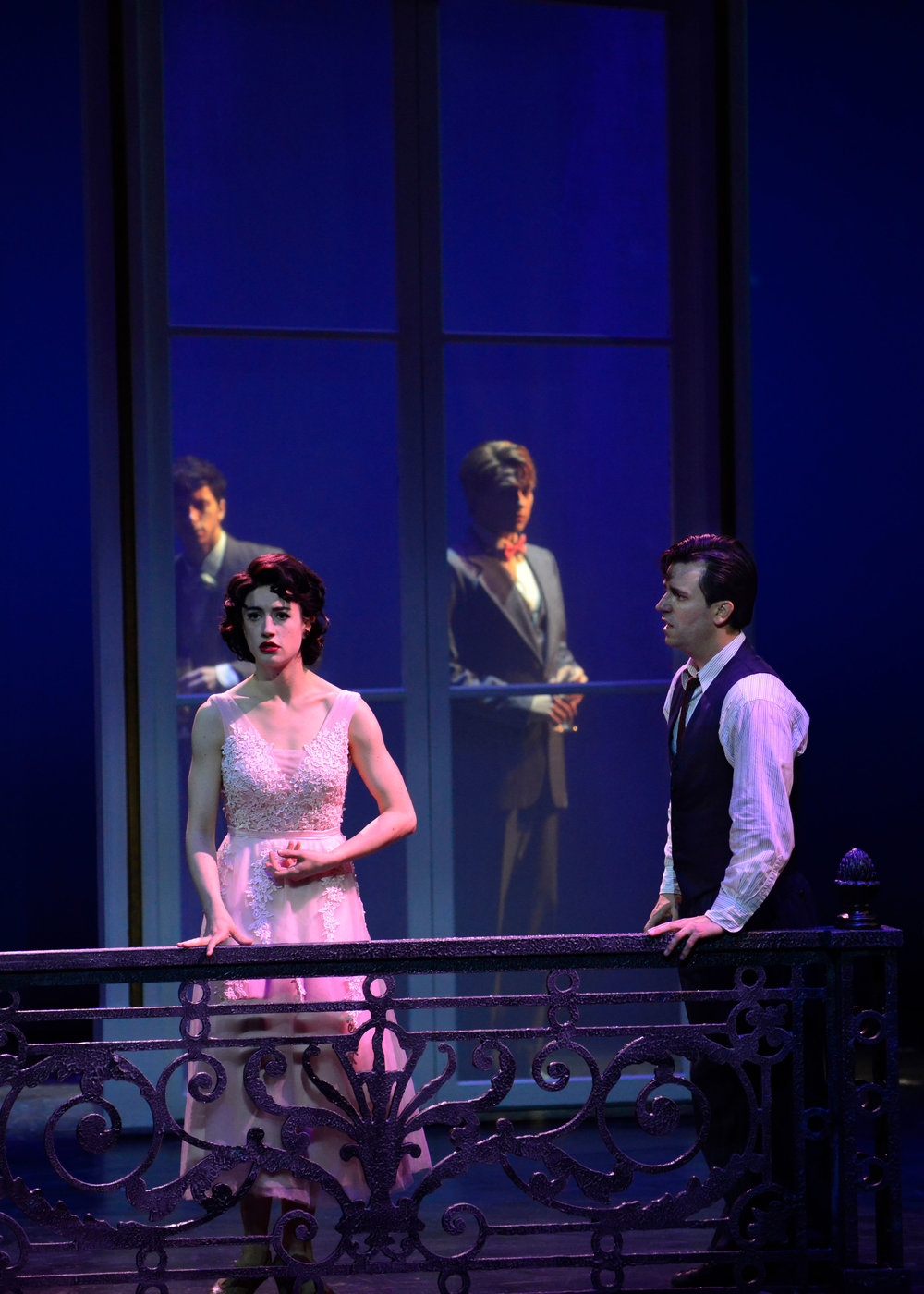 Jeremy Greenbaum, Julie Eicher, Stephen Brower, and Clyde Alves in the 2018 production of An American in Paris. Photo by Gary Ng.