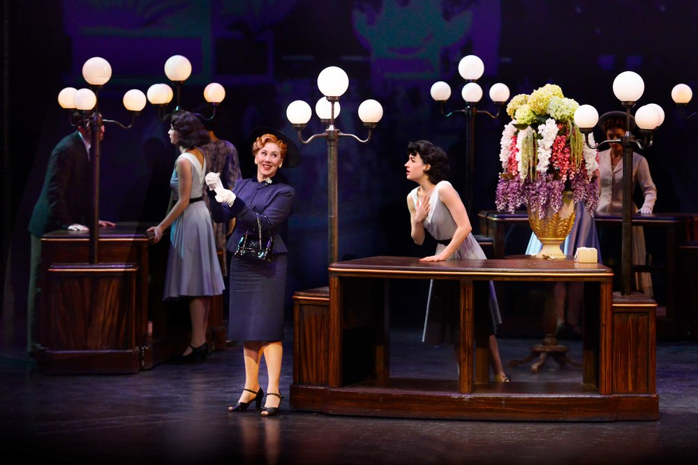 Joanna Glushak, Julie Eicher and cast in the 2018 production of An American in Paris. Photo by Gary Ng.
