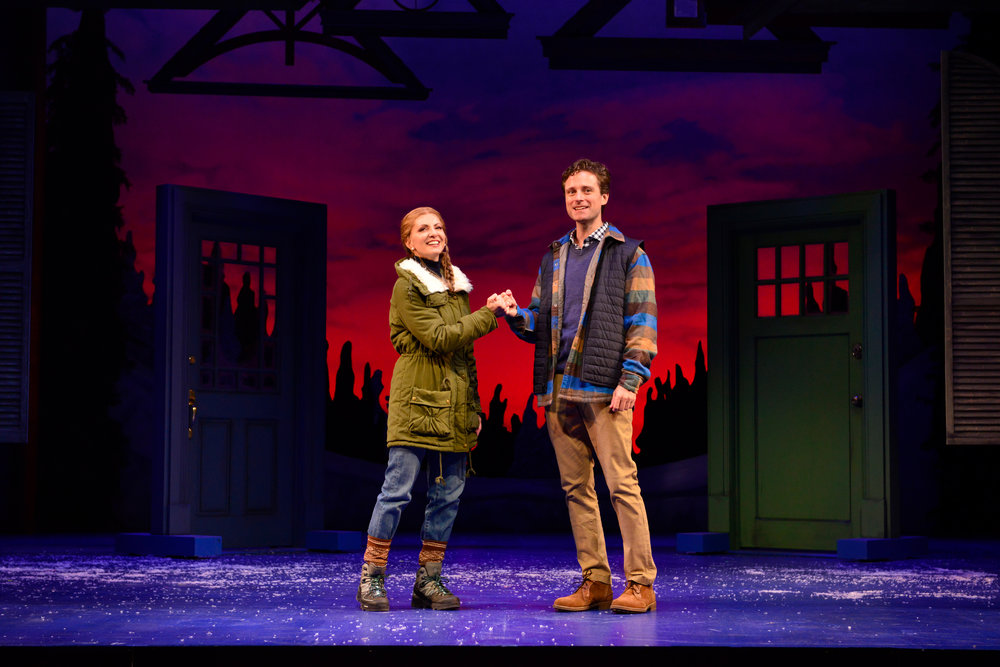 Laura Woyasz and Kevin Massey in Grumpy Old Men the Musical at the Ogunquit Playhouse. Photo by Gary Ng.