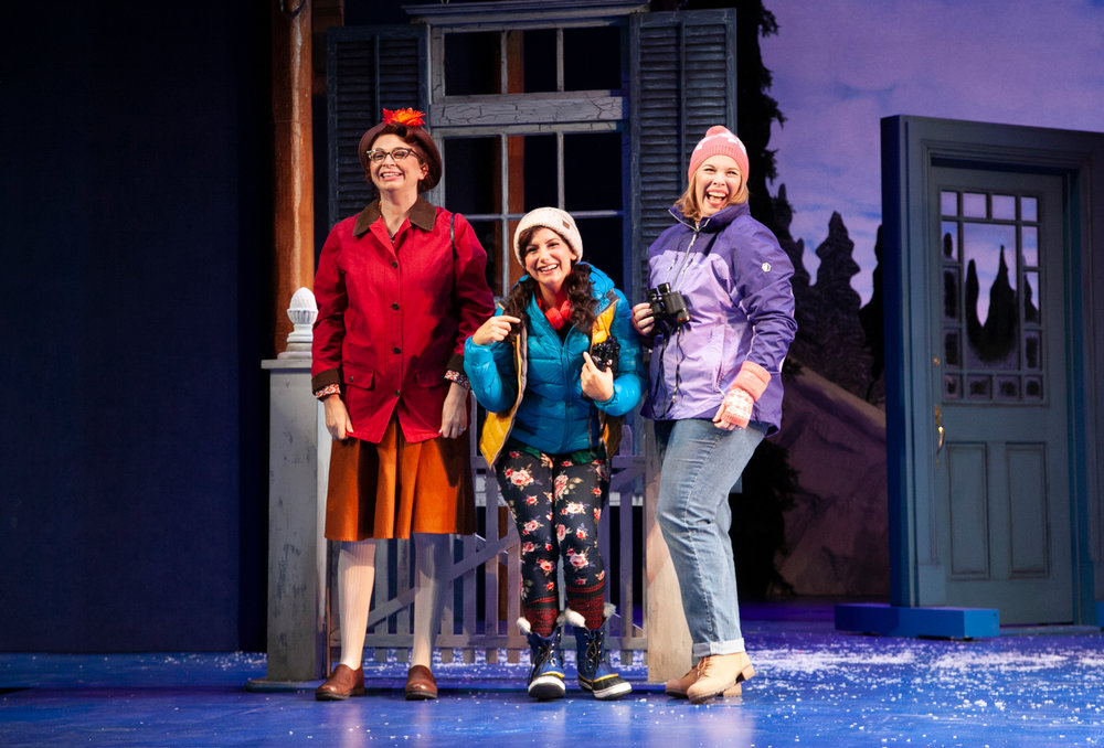Christina Tompkins, Brooke Singer, and Heather Jane Rolff in Grumpy Old Men the Musical at the Ogunquit Playhouse. Photo by Jay Goldsmith.