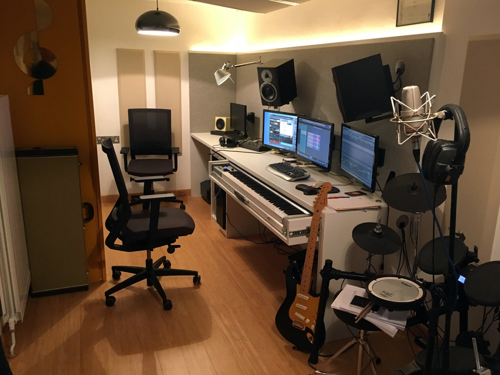 We had complete keyboard & studio envy in their creative space.