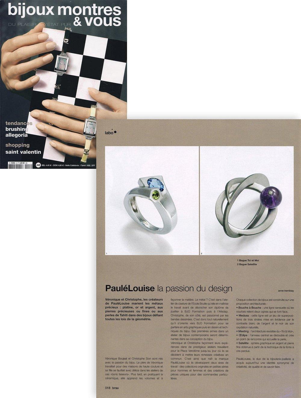 Bijoux montres & vous - janvier - février 2007