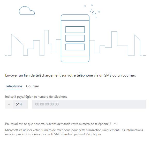 Microsoft Corporation, Interface de téléchargement d'une application , 2018