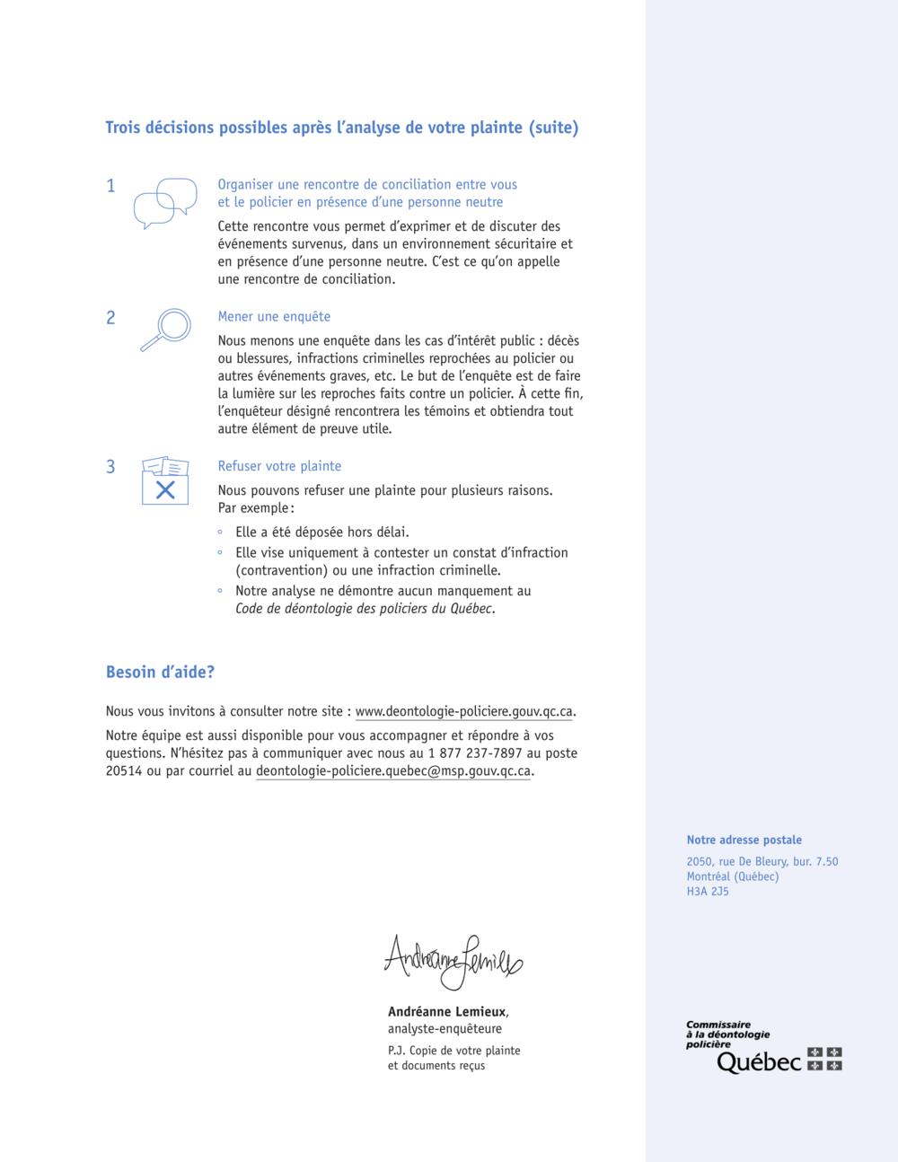 Lettre simplifiée - Design d'information - En Clair Service-Conseil inc.