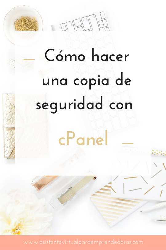 copia seguridad cpanel