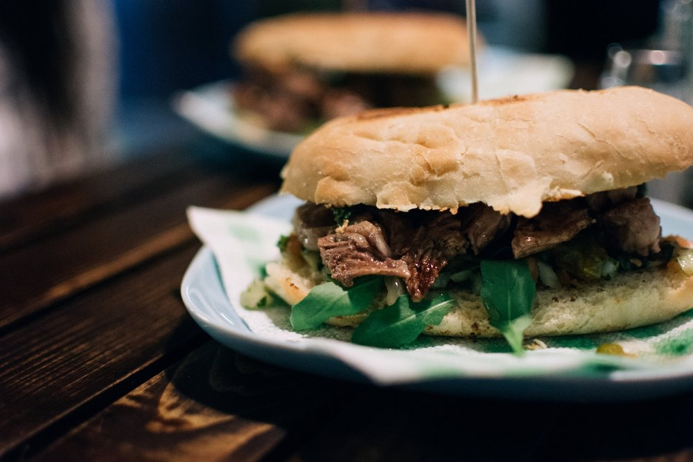 Argentinian Chimichurri Steak Sandwich made with Nurture Ranch Grass Fed Cube Steak