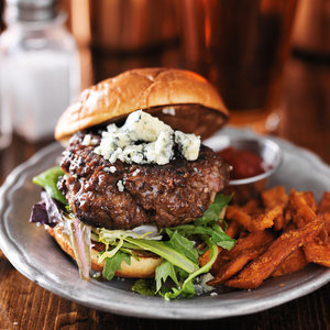 Blue Cheese Burger Made with Nurture Ranch Ground Chuck