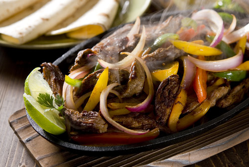 Nurture Steak Fajitas made with Nurture Ranch Grass Fed Steak.