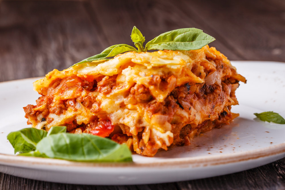 Nurture Lasagna made with Nurture Ranch Grass Fed Ground Beef.