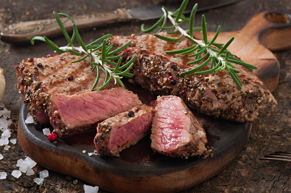 Nurture Ranch Honey Pecan Steak Roasts are fully cooked.  To enjoy warm, slice and place on a medium preheated indoor grill or pan for 30 seconds on each..  Top with olive oil, sea salt and thyme.  Enjoy!