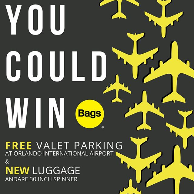 No tricks here, only treats this October! 🎃  We're giving away FREE valet parking at Orlando International Airport & BRAND NEW luggage from Andare!  Check out our Facebook page for details on how to enter!  One lucky winner will be chosen on Halloween! 👻  Safe travels & GOOD LUCK!!