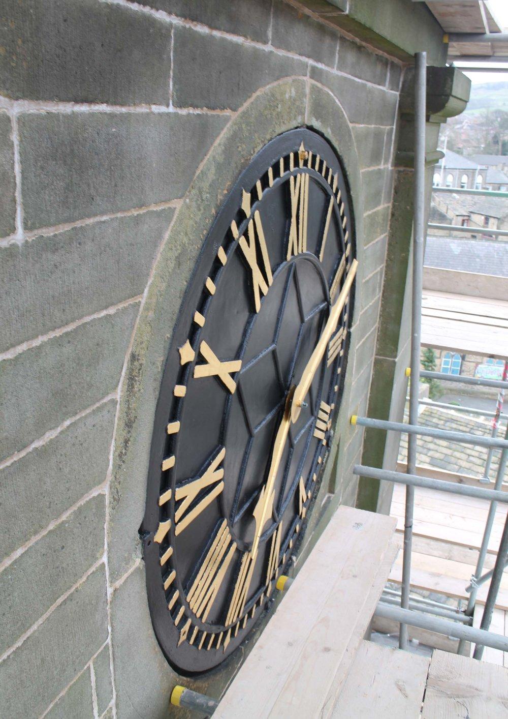 Copy of refurbished church clock face photograph