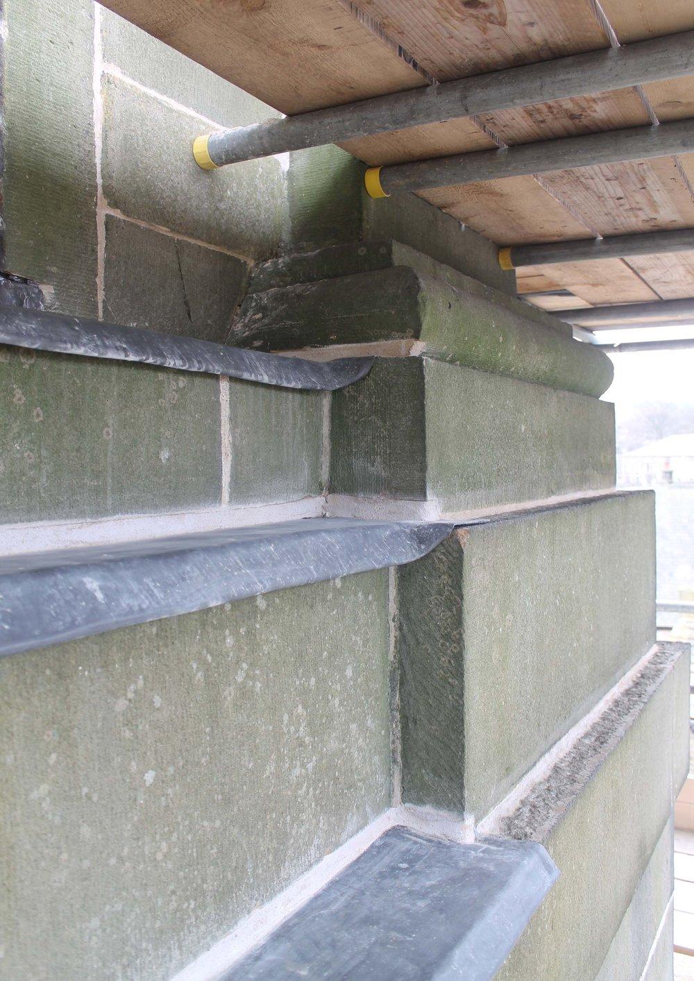 Copy of stonework refurbishments to church tower