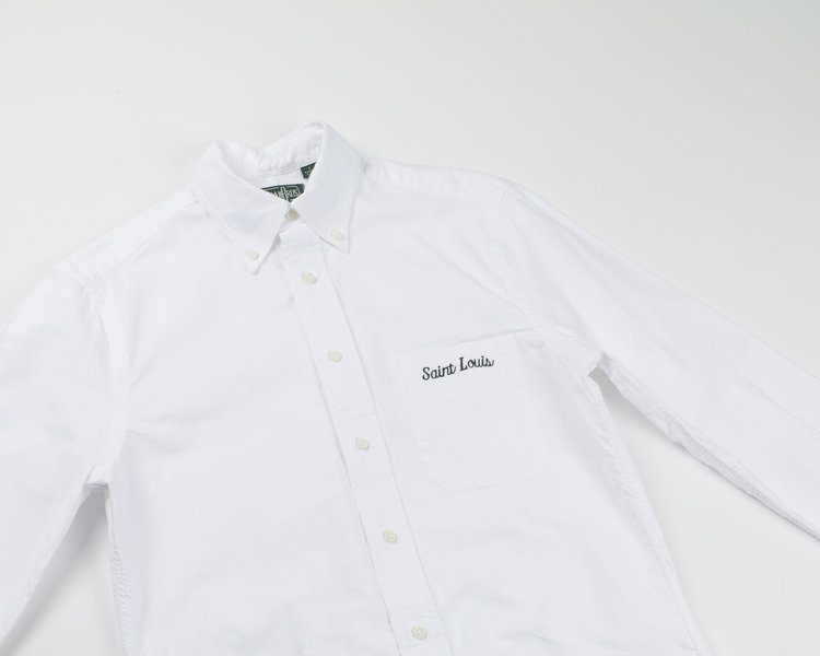 Saint Louis Embroidered Oxford In White East West