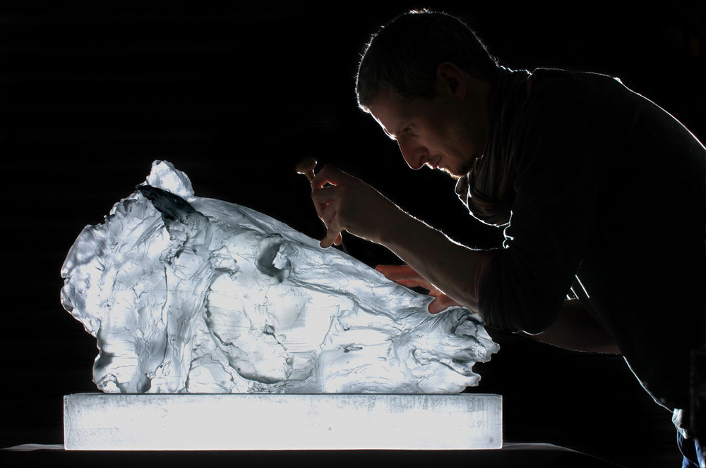 Crystal Ashen, special edition in glass, life-size