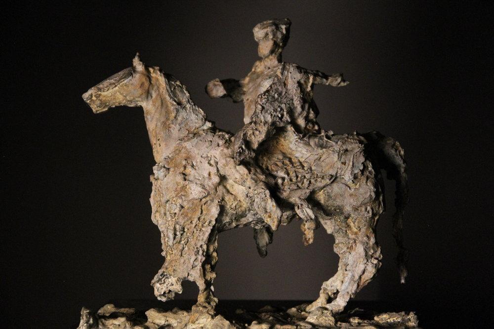 Chevalier , bronze, maquette, edition of 9