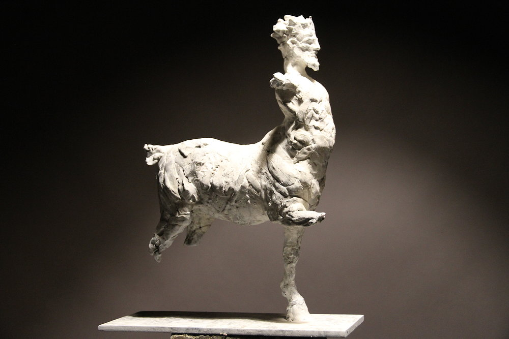 Chiron , bronze, maquette, white patina, edition of 9