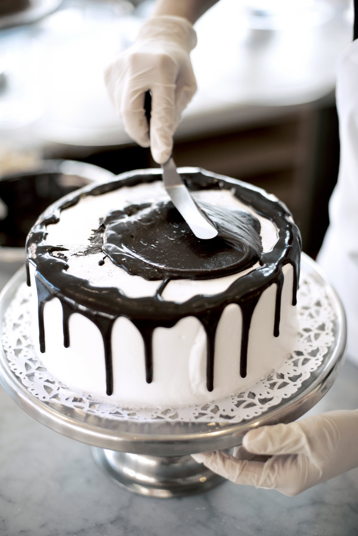Sweet vanilla infused chocolate fudge cake by the  Little Cupcake Bakeshop  of Lower Manhattan!