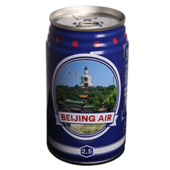 Plastered even pokes fun at the fact that people can buy canned Canadian air in China by offering canned Beijing air as a souvenir for tourists. It also not-so-sublty highlights the extensive issue of air pollution in China.