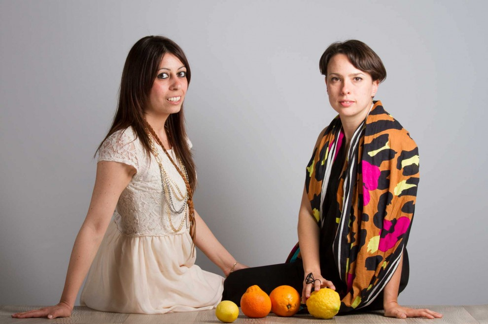 Orange Fiber founders Adriana Santanocito and Enrica Arena