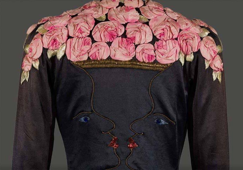 1937 Elsa Schiaparelli art-deco evening coat from the Victoria and Albert Museum
