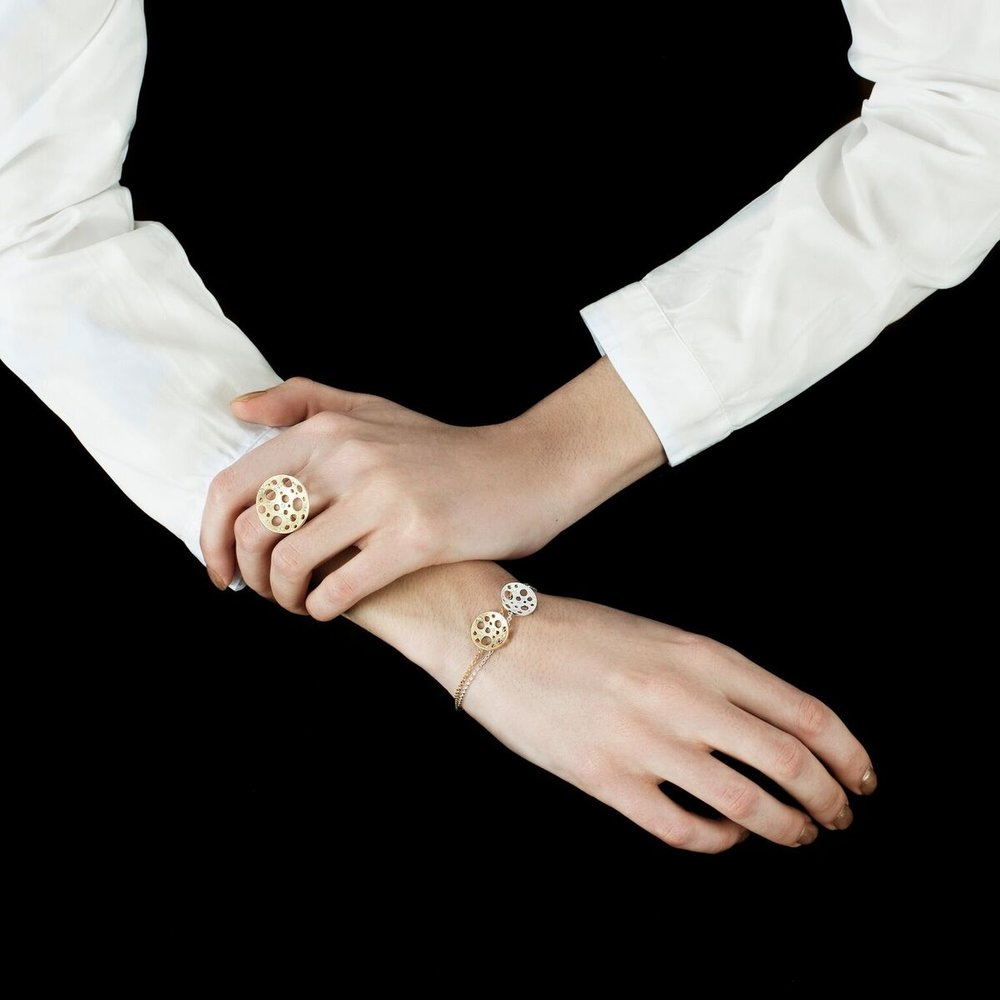 Ana  Simoes - muscari jewellery_  round golden _ white moon bracelet_preview.jpg