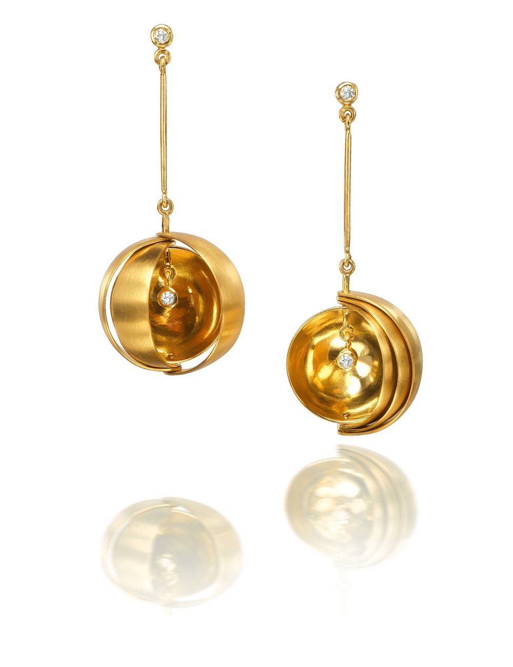 Rose Carvalho - Observatory Long  Earrrings -18K yellow gold and diamonds.jpg