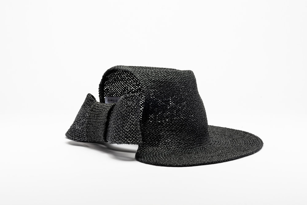Camille_Cote_SS18_Catherine_Straw_Cropped_Fedora_Bow_Black_Back.jpg
