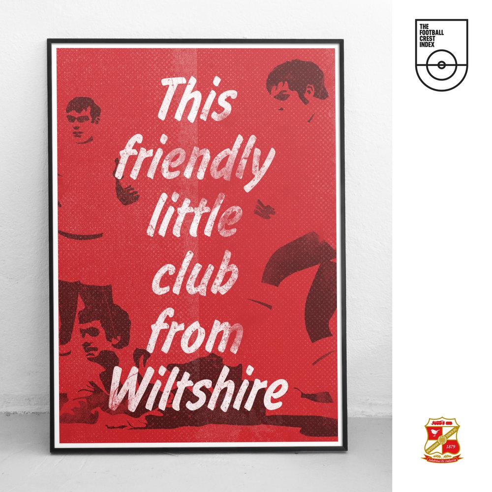 Steve Leard Representing Swindon Town F.C.