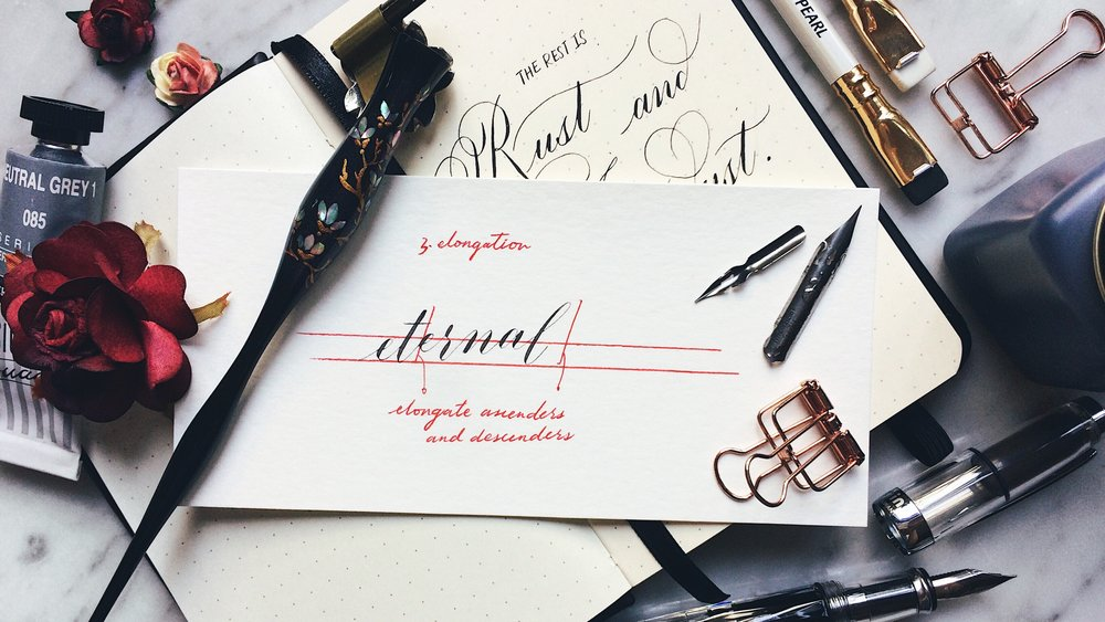 Learning calligraphy uk wonky words