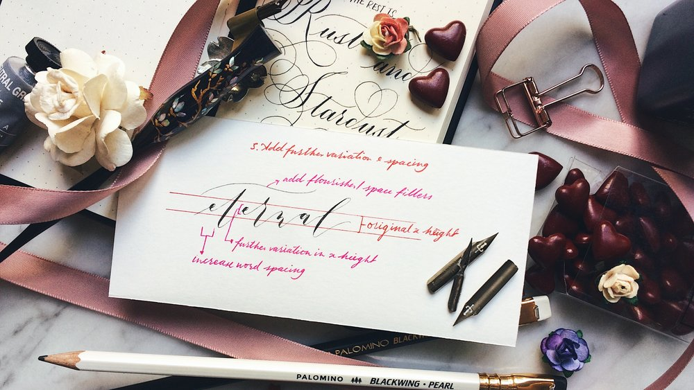 The modern calligraphy workshop by the letter j supply it s a