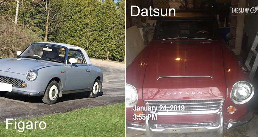 Figaro and Datsun automobiles