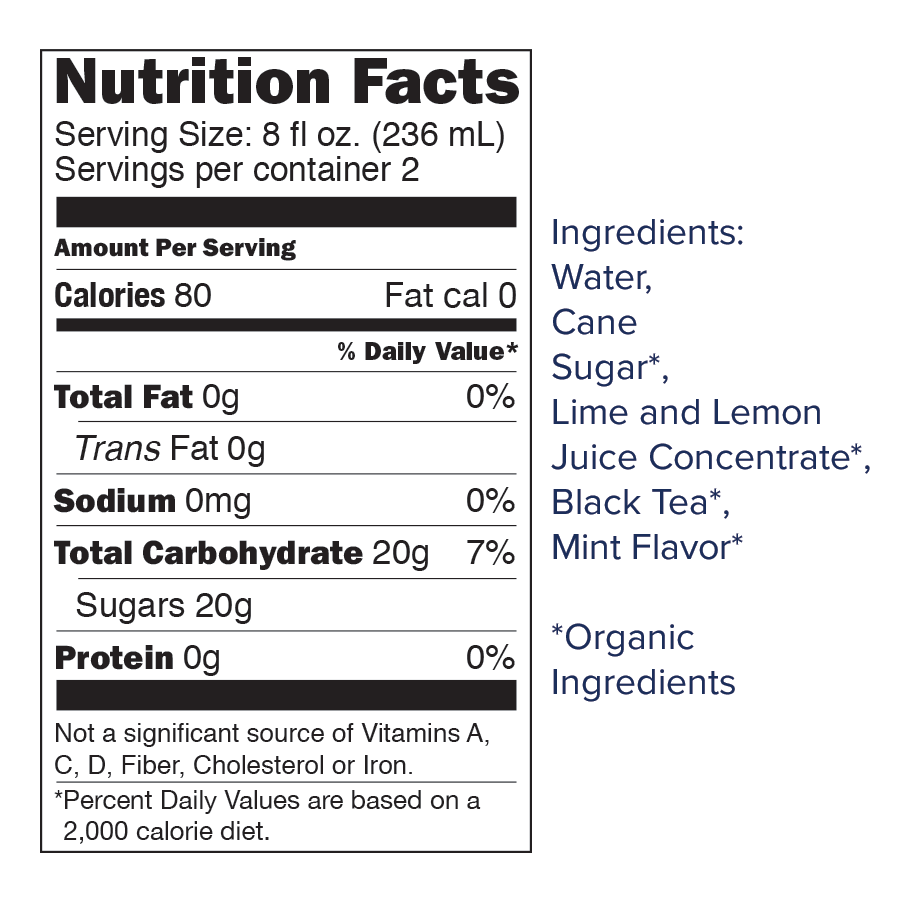 sweetend mojito nutrition slide.png