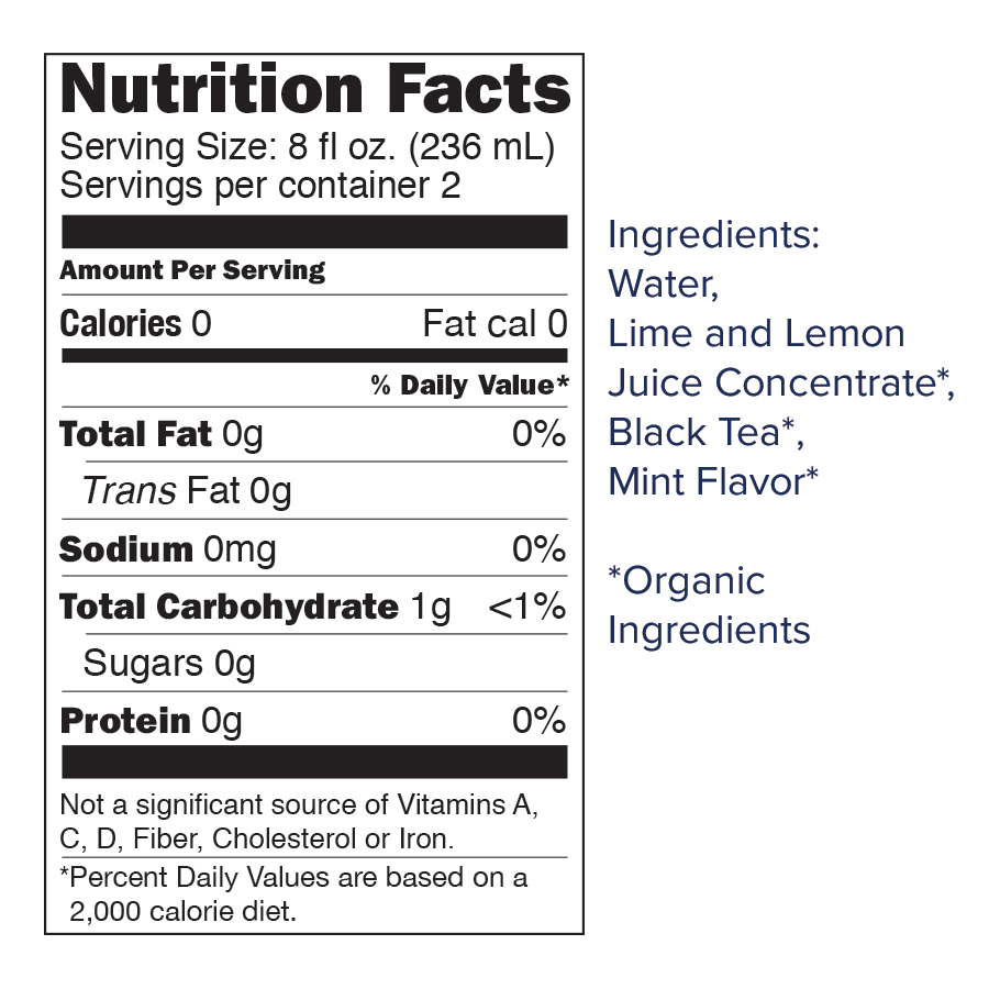 unsweetened mojito nutrition slide.png