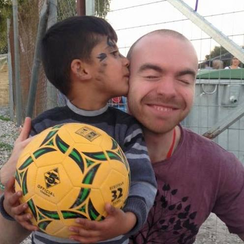 Volunteering in Lesvos had brief moments of bliss like watching this young Syrian boy go crazy with glee at being given a football to play with. The whole experience was scarcely believable - not in a good way and certainly pivotal.