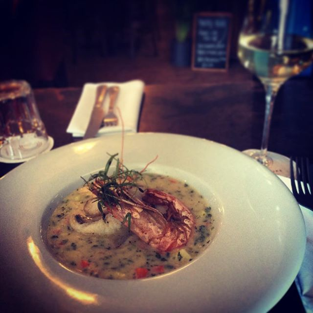 This evenings fish special... Monk Fish & King Prawn Chowder. #fishfriday #sunninghill #ascot