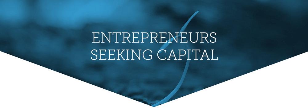 Entrepreneurs seeking capital.